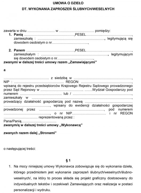 umowa o dzieło zaproszenia-1